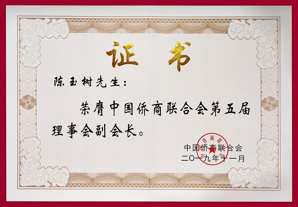 19侨商联合副会长证书-1.jpg